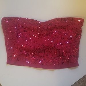 Pink sequins tube top 😍